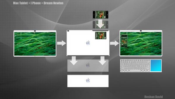 tastiera + iphone integrati