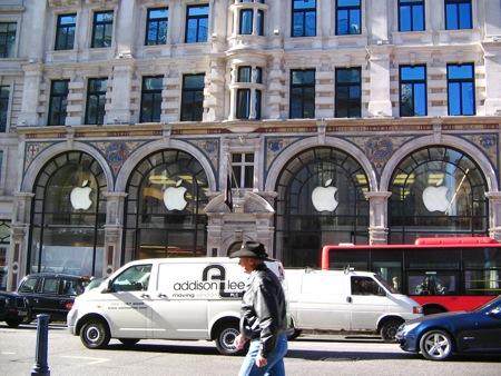 Ingresso dell'Apple Store Londinese