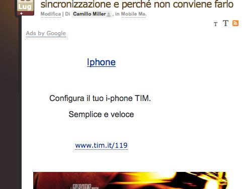 NUOVA PUBBLICITÀ DI IPHONE TIM