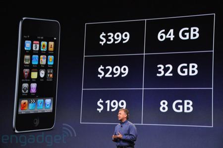 Nuovi prezzi iPod Touch settembre 2009