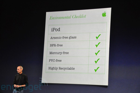 iPod settembre 2009 ecologici
