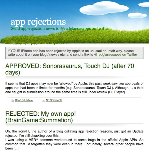 app rejections