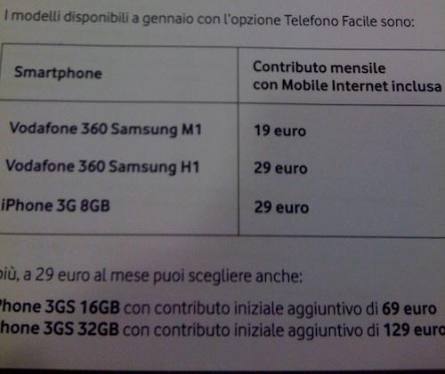 telefono facile Vodafone iPhone