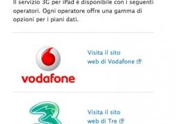 iPad 3G tariffe