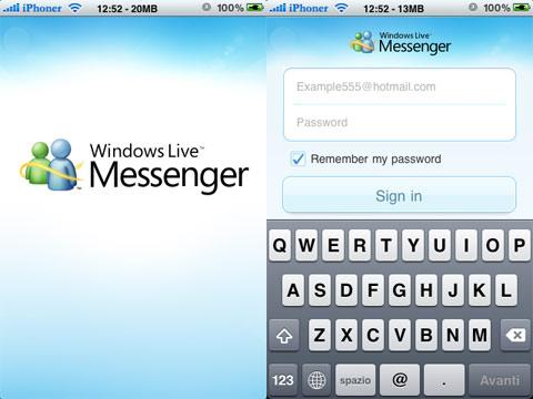 Windows Live Messenger per iPhone su App Store USA   The