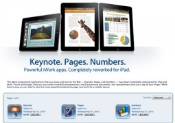 Keynote, Pages, Numbers