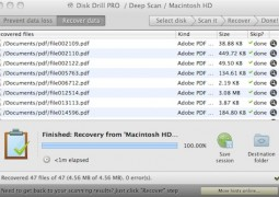 Disk Drill 1.1.84 Pro Files Recovered