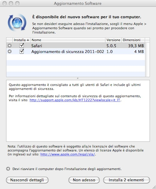 Safari 5.0.5