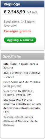 Spedizione Apple MacBook Pro Early 2011 - TheAppleLounge