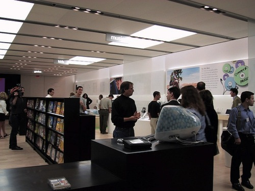 Steve Jobs e i giornalisti - Press Tour del primo Apple Store
