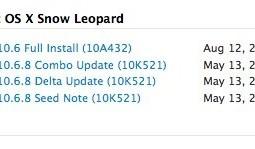 Mac OS X 10.6.8 10k521