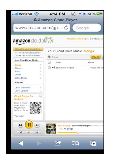 Amazon cloud player iOS