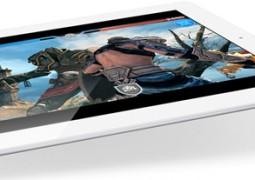 iPad bianco inclinato