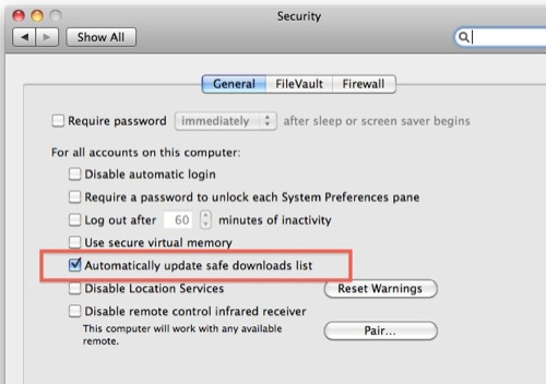Opt out of mac malware updates