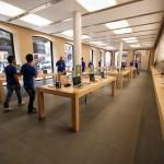 Piano terra dell'Apple Store Via Rizzoli a Bologna