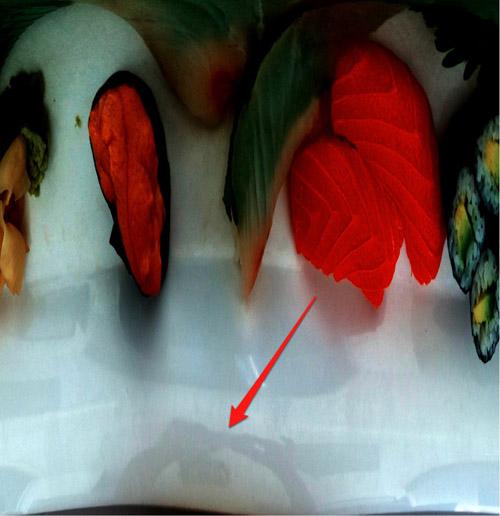 Riflesso sul piatto della foto scattata con il presunto iPhone 5
