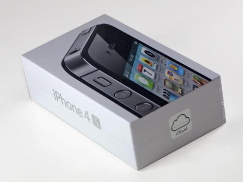 La scatola di un iPhone 4S