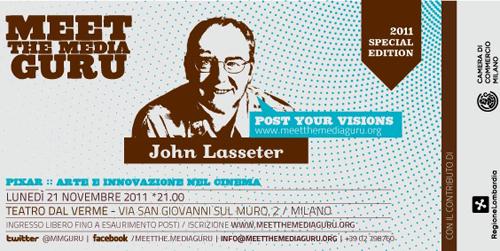 "John Lasseter a Milano il 21 novembre 2011 ospite di ""Meet the Media Guru"" - The Apple Lounge"