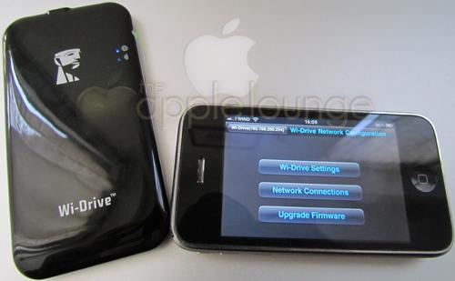 Kingston Wi-Drive, schermata per le impostazioni che si possono dare tramite iPhone - The Apple Lounge