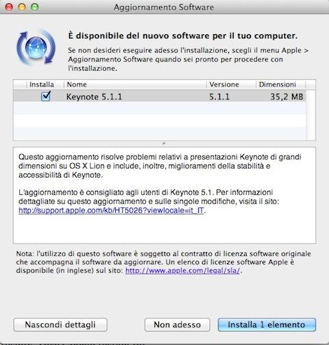 apple keynote 5.1.1