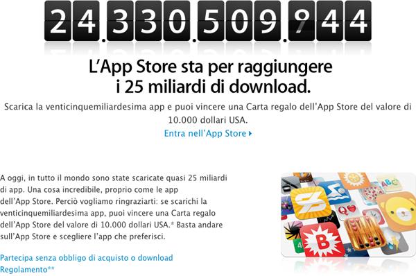 25 miliardi di App (quasi) scaricate da iTunes App Store