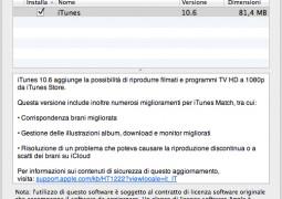 iTunes 10.6 disponibile tramite Aggiornamento Software