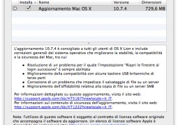 Mac OS X 10.7.4 disponibile - TheAppleLounge.com