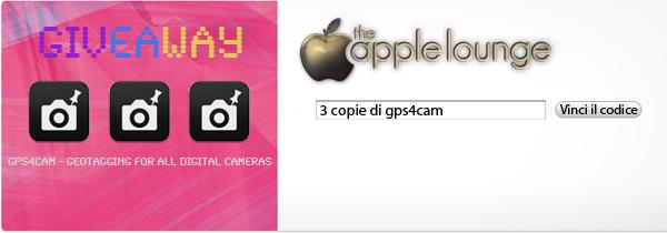 gps4cam giveaway, 3 codici in regalo per i lettori di TheAppleLounge.com