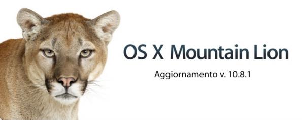 OS X Mountain Lion 10.8.1