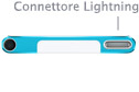 Nuovo iPod nano, particolare del connettore Lightning - TheAppleLounge.com