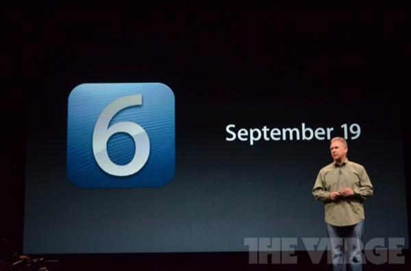 iOS 6 disponibile dal 19 Settembre