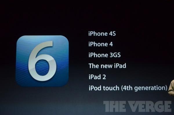 iOS 6 dispositivi compatibili