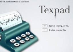 texpad scrittura latex