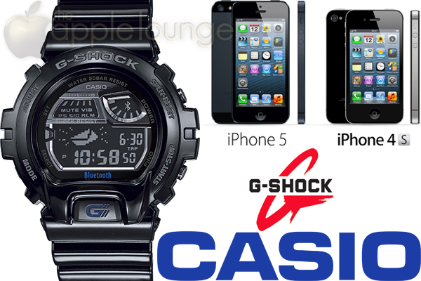 CASIO G-SHOCK GB-6900AA, compatibile con iPhone 5 e iPhone 4S - TheAppleLounge.com