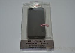 Cover iPhone 5 Mirror by Puro, immagine frontale della confezione - TheAppleLounge.com