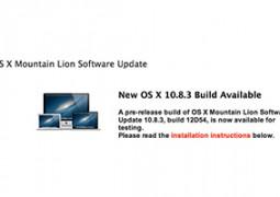 OS X 10.8.3 build 12D54 rilasciata agli svilupatori (immagine in evidenza) - TheAppleLounge.com