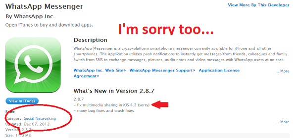 WhatsApp Messenger iphone 3g
