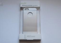 moshi iGlaze armour for iPhone silver, immagine frontale della scatola - TheAppleLounge.com