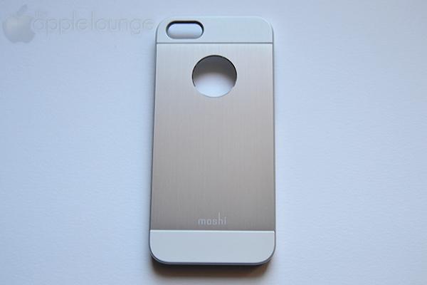 moshi iGlaze armour for iPhone silver, particolare frontale della cover fuori dalla scatola - TheAppleLounge.com