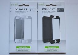 moshi iVisor XT for iPhone 5, immagine frontale della confezione per iPhone 5 bianco e iPhone 5 nero - TheAppleLounge.com