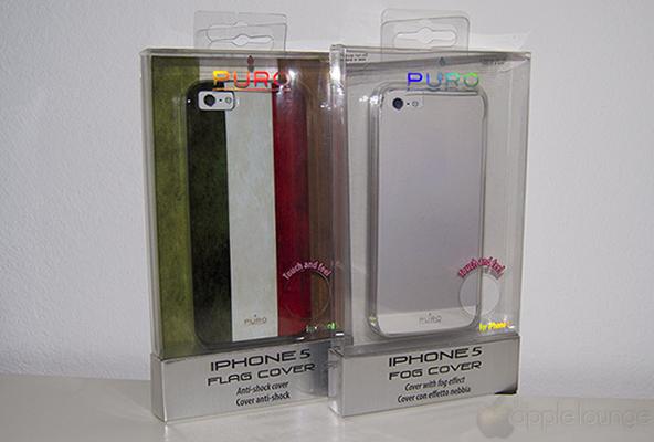 Puro Cover iPhone 5 Flag e Cover iPhone 5 Flag, immagine frontale della confezione - TheAppleLounge.com