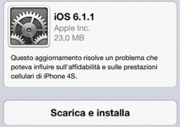 iOS 6.1.1 per iPhone 4S - TheAppleLounge.com