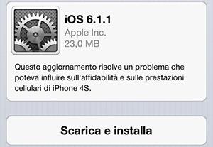 iOS 6.1.1 per iPhone 4S - TheAppleLounge.com