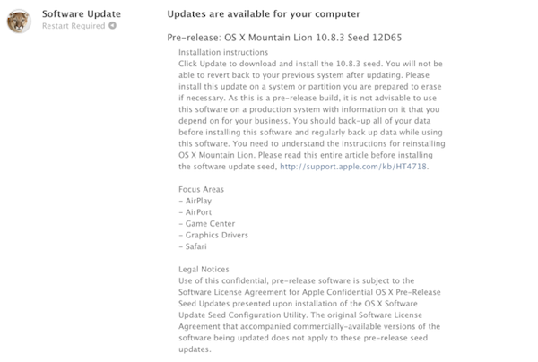 OS X 10.8.3 build