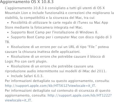 OS X10.8.3, rilasciato l'aggiornamento - TheAppleLounge.com