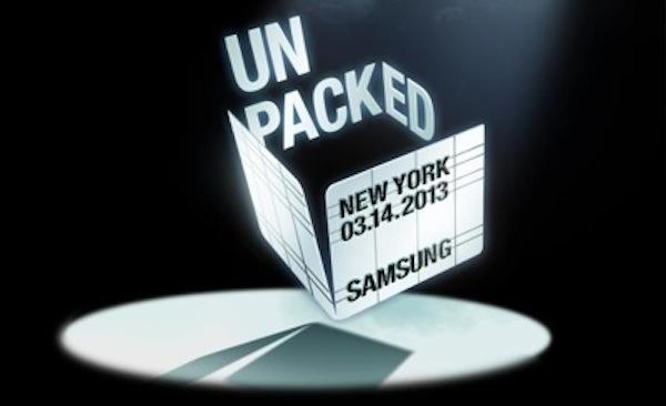 Samsung Galaxy S 4 event presentation