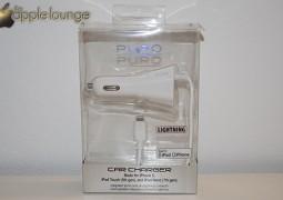 Puro, Carica batterie da auto per dispositivi Apple con connettore Lightning (confezione fronte) - TheAppleLounge.com