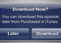 iTunes scarica più tardi