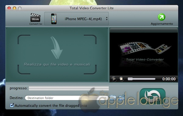 convertire file video audio