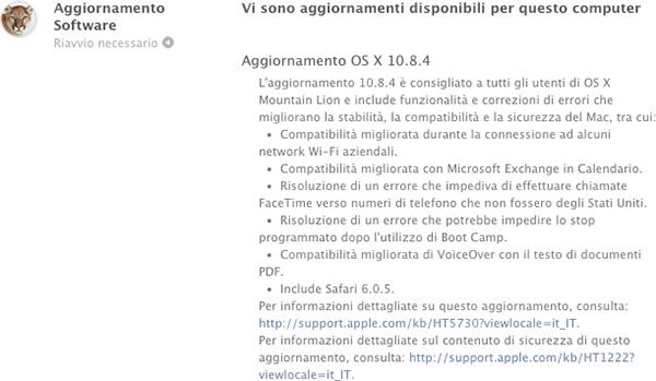 OS X 10.8.4, aggiornamento Mountain Lione - TheAppleLounge.com